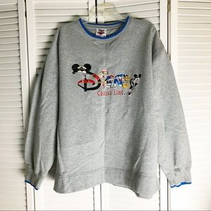 Disney Cruise Line Gray Oversized Sweatshirt XL